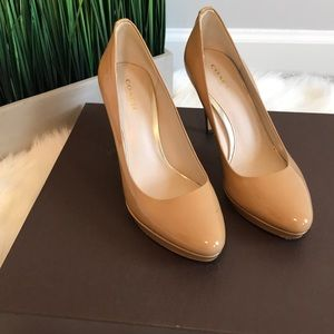 "Authentic Coach pumps: Tan : Size 7 3.5"" heel"